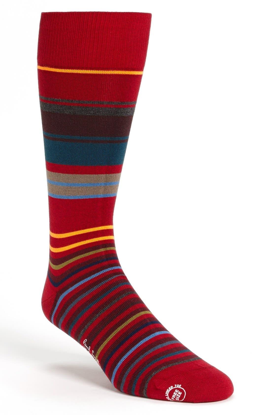 Main Image - Paul Smith Accessories Neon Stripe Socks