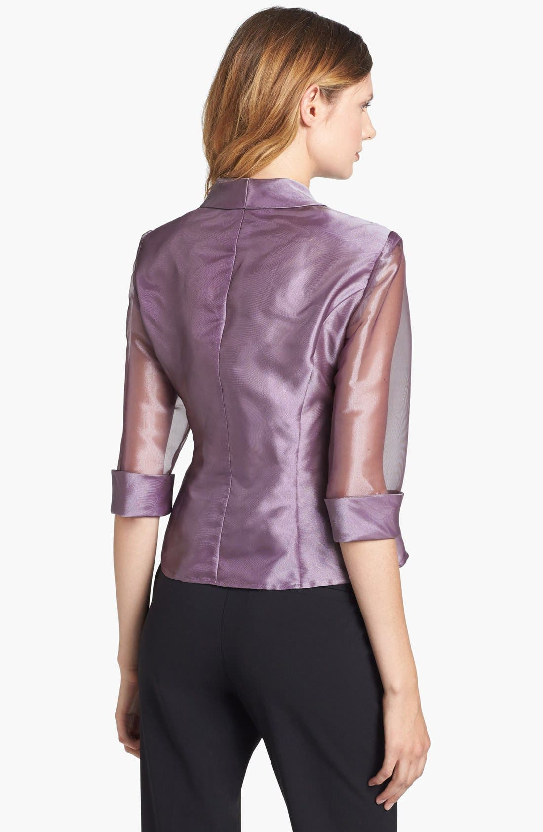 Alternate Image 2  - Alex Evenings Embellished Wrap Blouse (Petite)