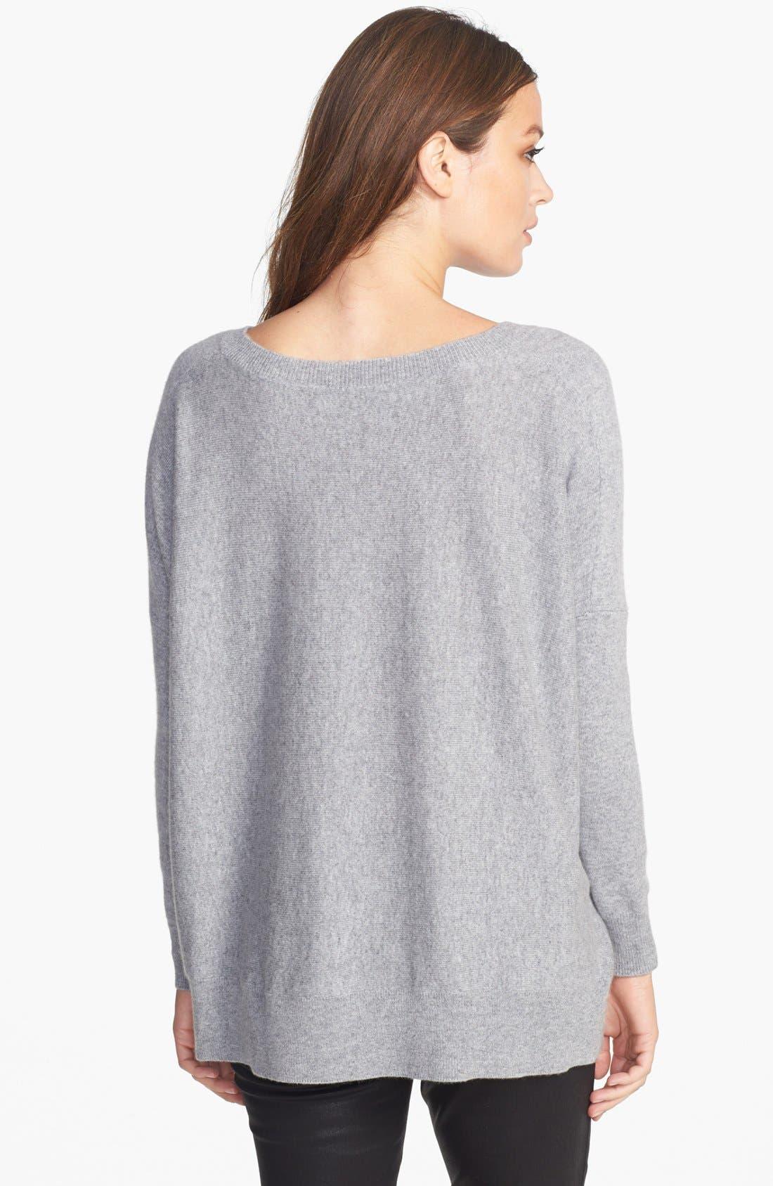 Alternate Image 2  - Eileen Fisher Ballet Neck Cashmere Sweater (Regular & Petite)