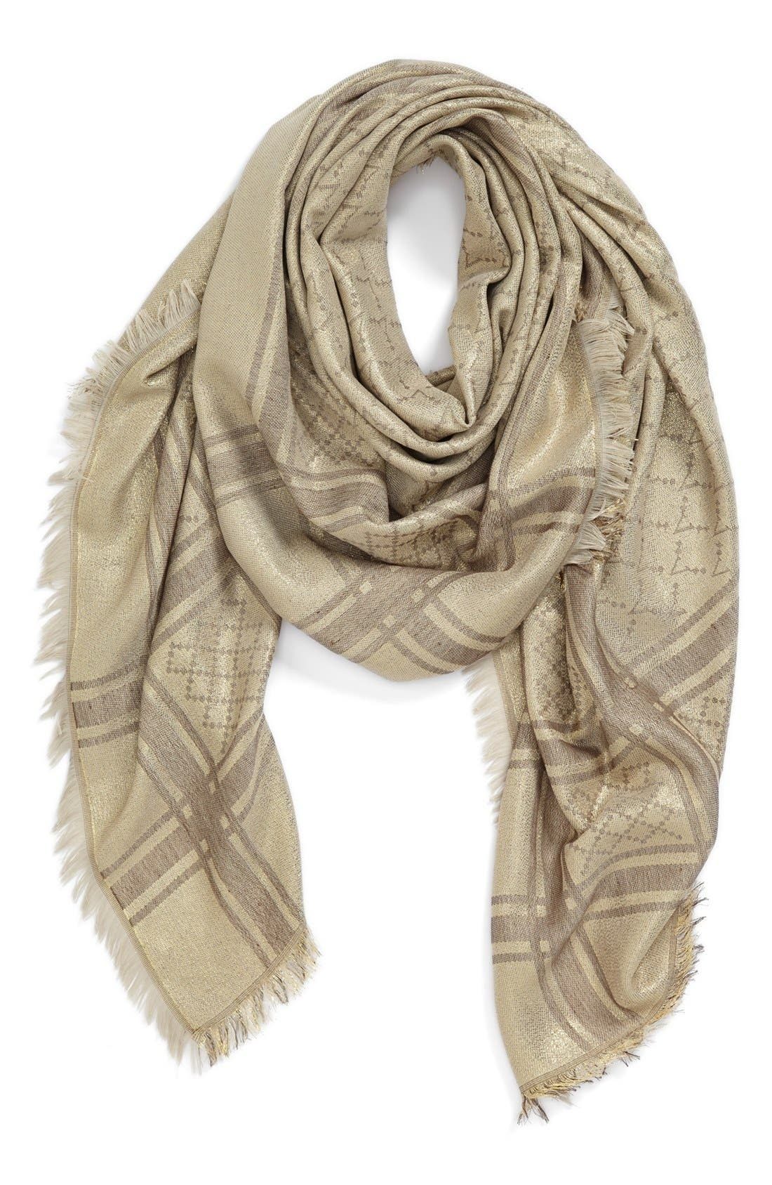 Alternate Image 1 Selected - Vince Camuto Square Jacquard Scarf