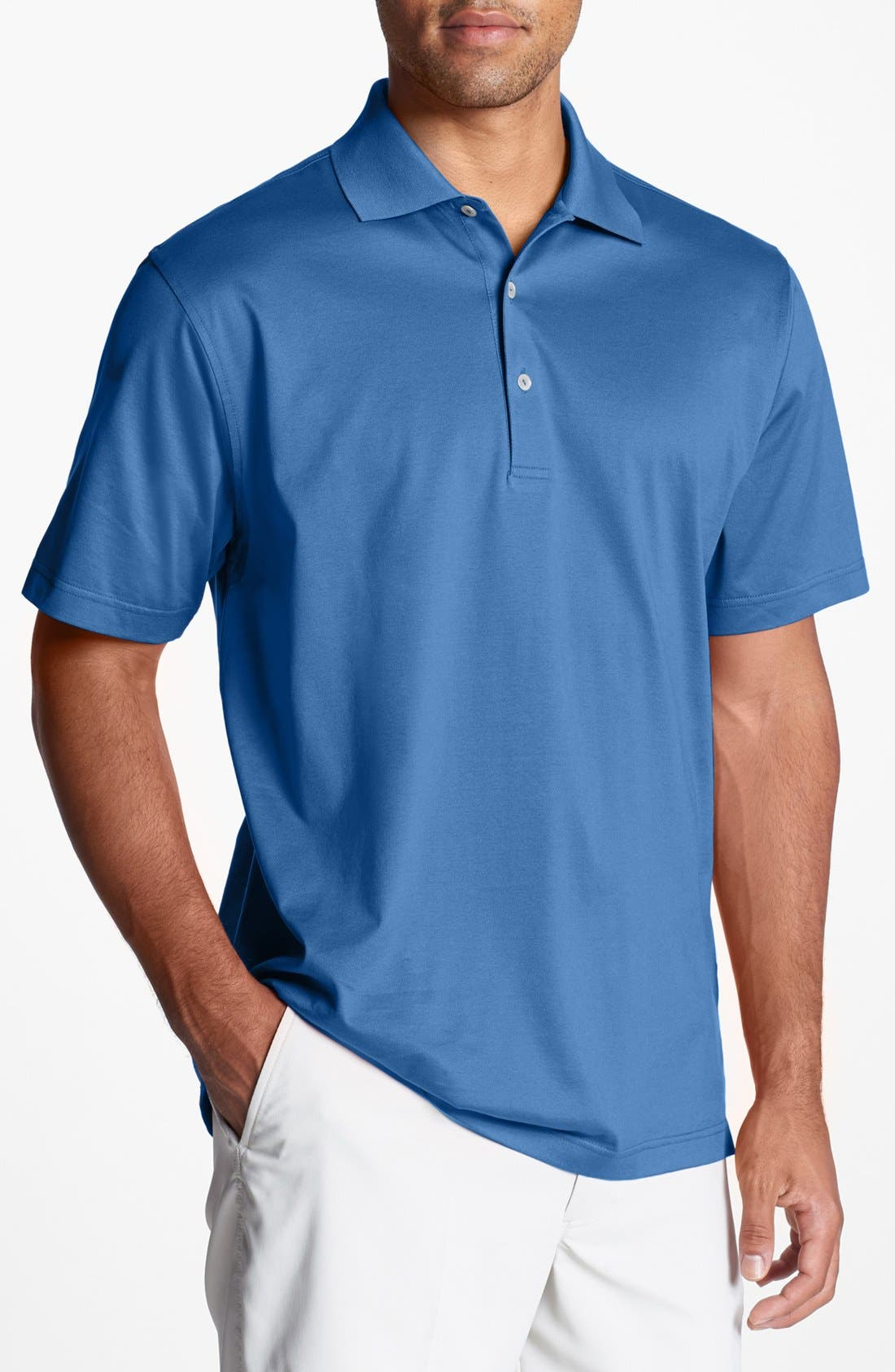 Alternate Image 1 Selected - Peter Millar Solid Knit Polo