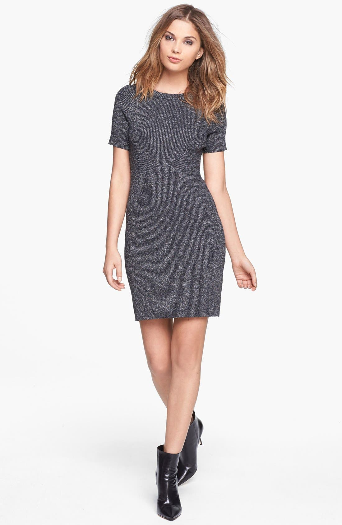 Alternate Image 1 Selected - Leith Engineered Sheen Dress