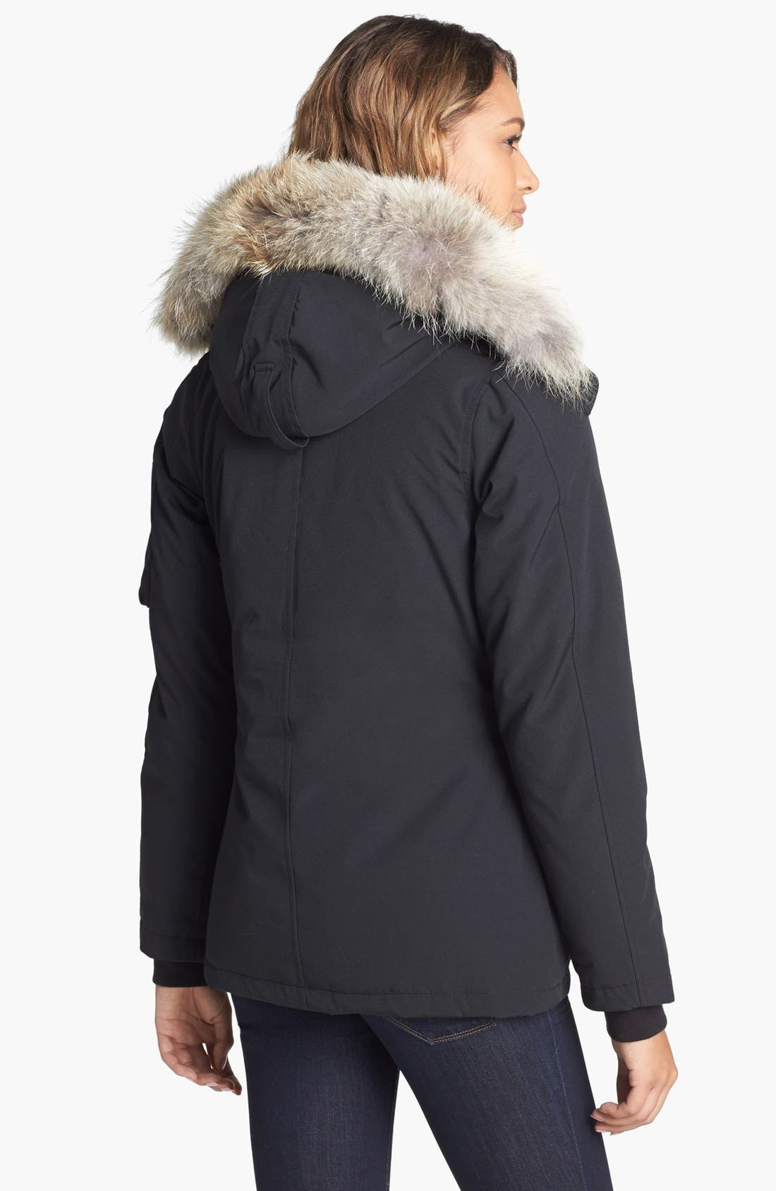 Alternate Image 2  - Canada Goose Montebello Slim Fit Down Parka with Genuine Coyote Fur Trim