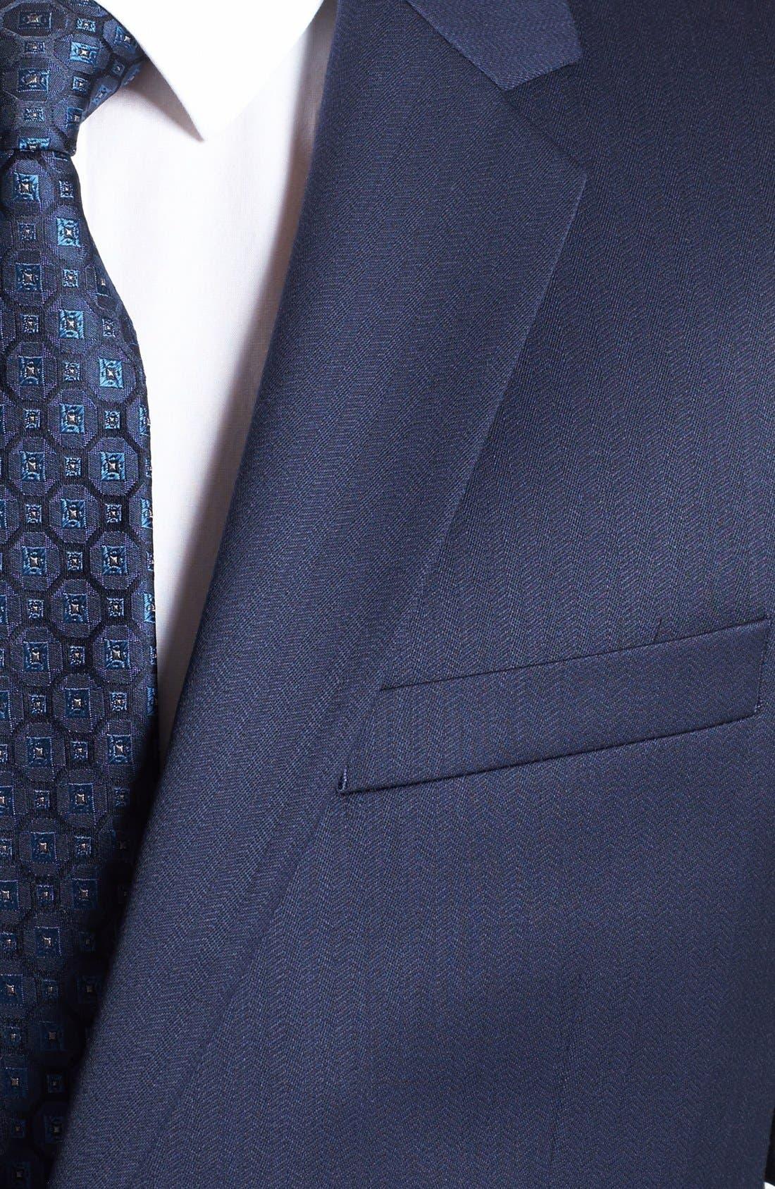 Alternate Image 5  - HUGO 'Aeron/Hamen' Trim Fit Wool Blend Suit