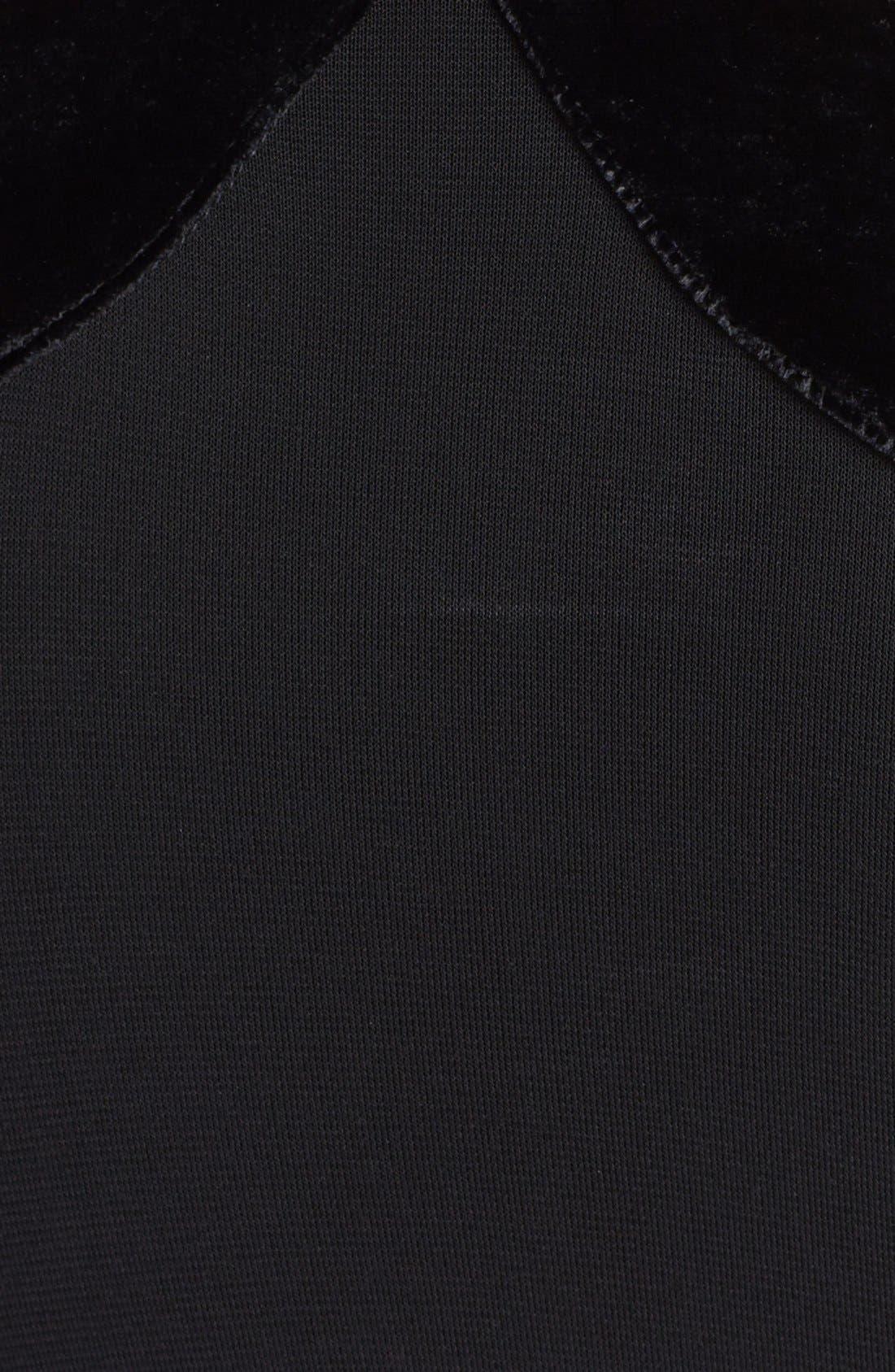 Alternate Image 3  - Halston Heritage Velvet Trim Faux Wrap Gown