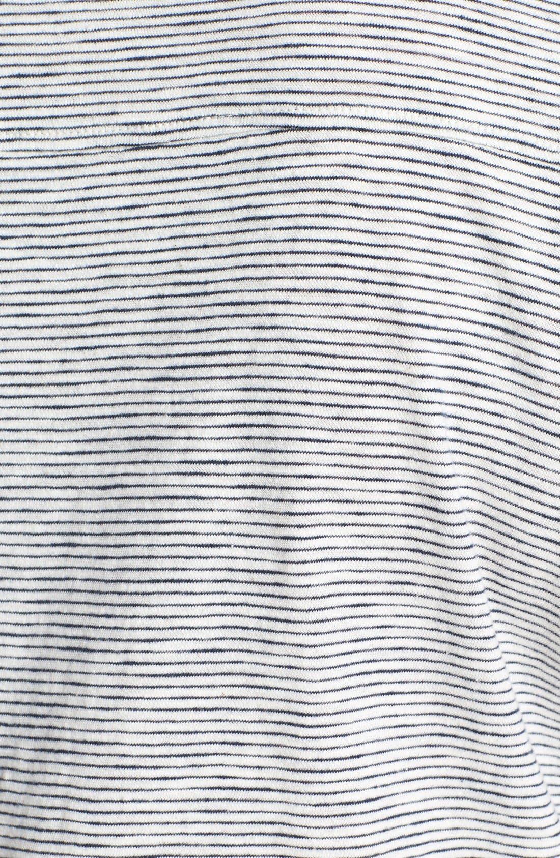 Alternate Image 3  - Lucky Brand Mini Stripe Cotton Top (Plus Size)