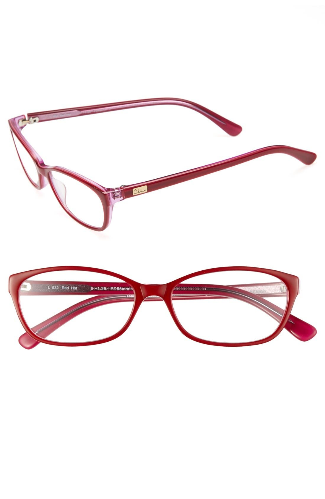 Alternate Image 1 Selected - I Line Eyewear 'Red Hot' 58mm Reading Glasses