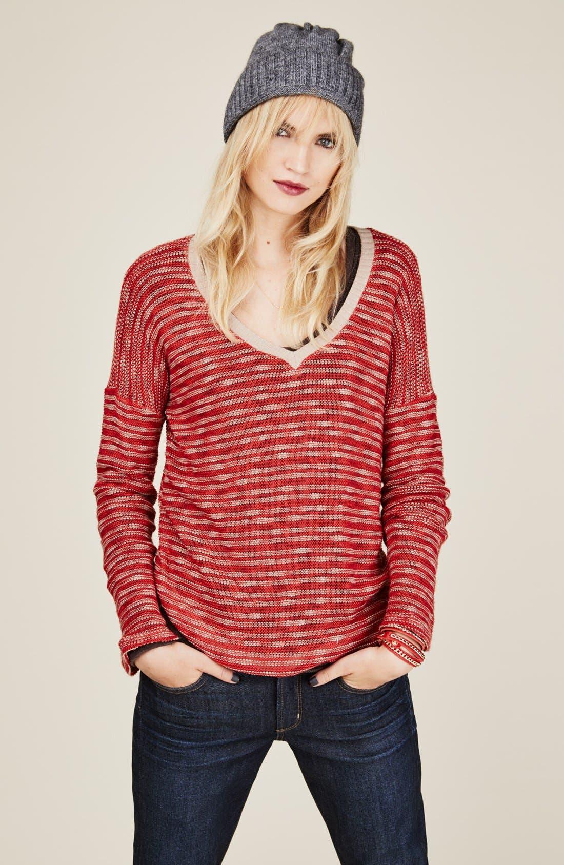 Alternate Image 4  - Splendid 'Fireside' V-Neck Sweater