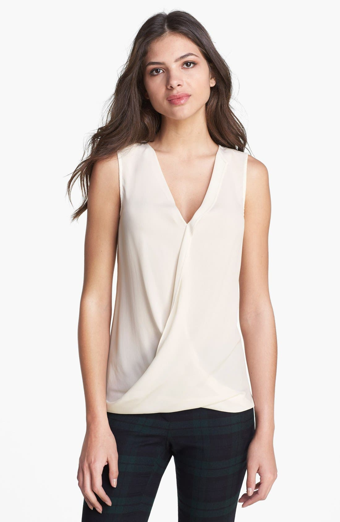 Alternate Image 1 Selected - Theory 'Parlier' Silk & Stretch Cotton Blouse