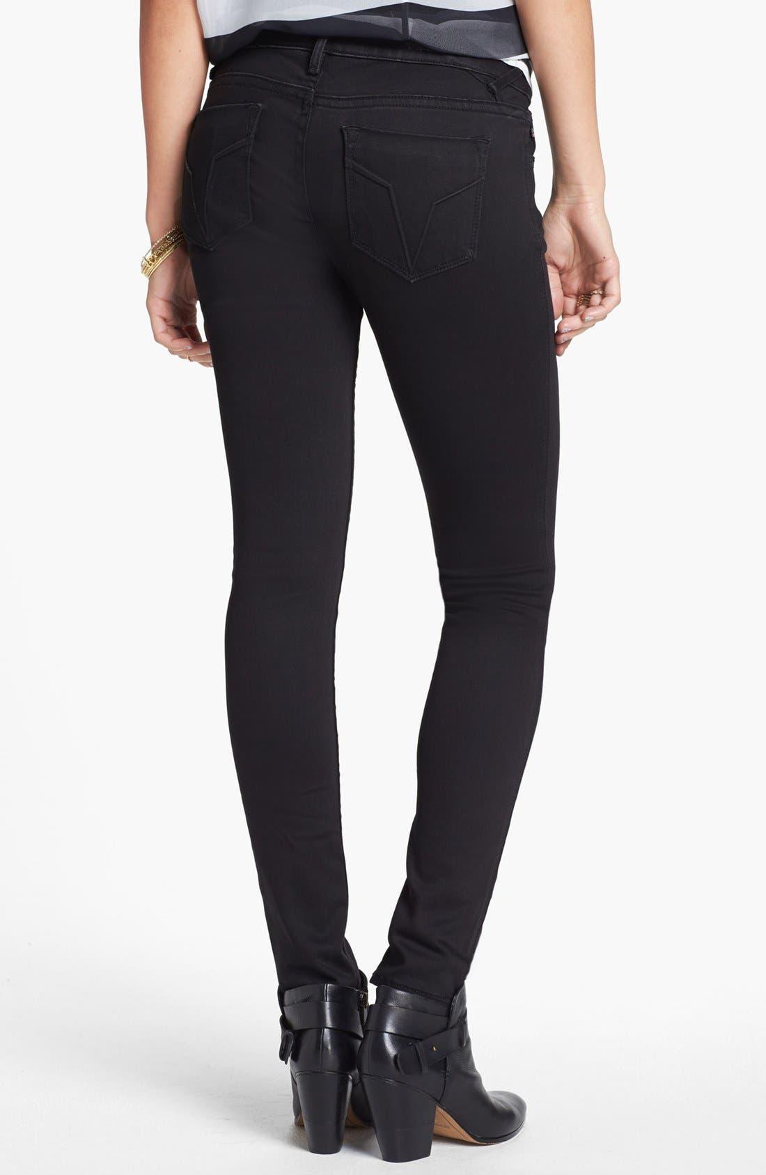 Alternate Image 2  - Vigoss 'Chelsea' Super Stretchy Skinny Jeans (Juniors) (Online Only)