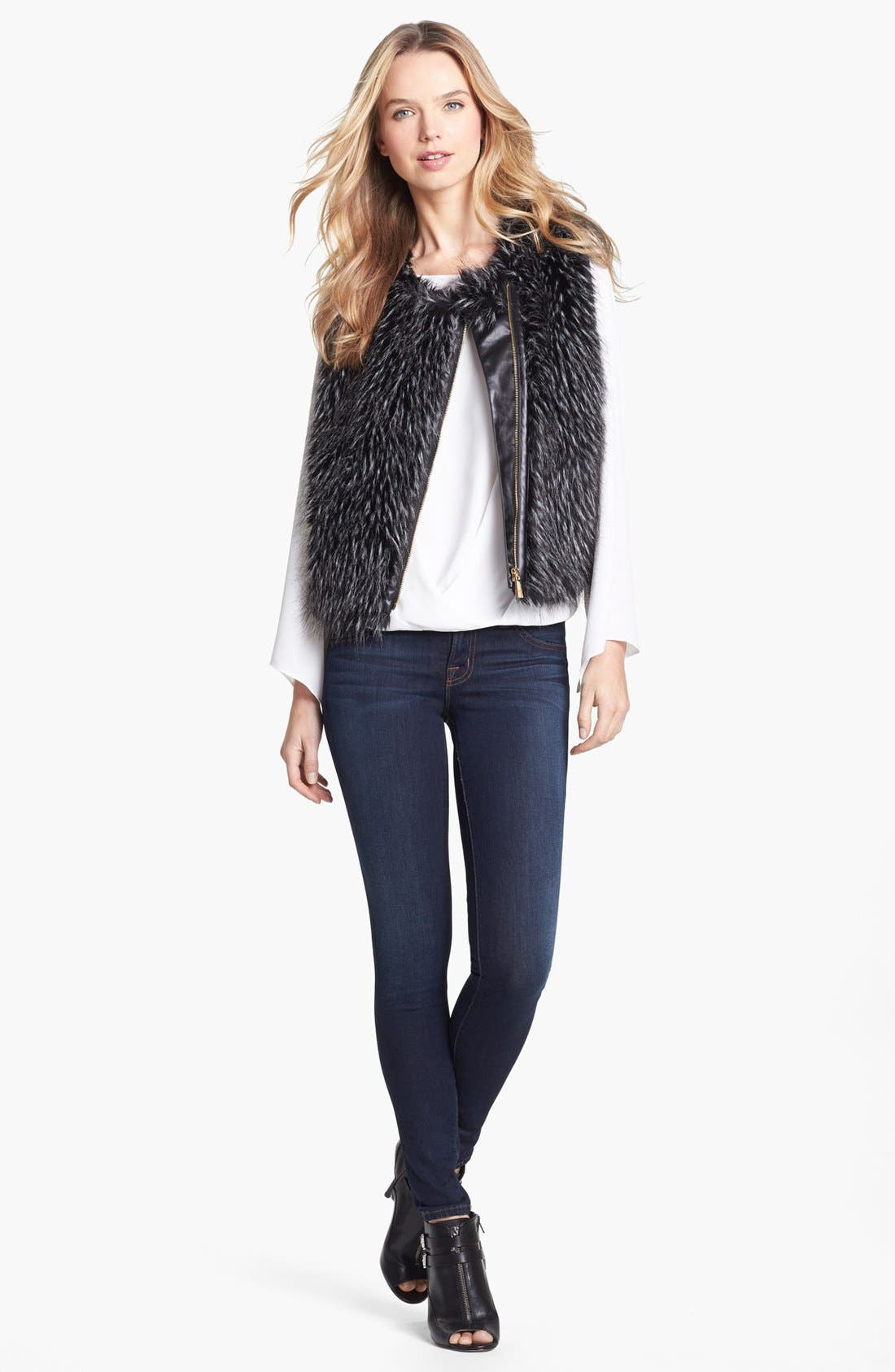 Alternate Image 1 Selected - Vince Camuto Faux Fur Vest
