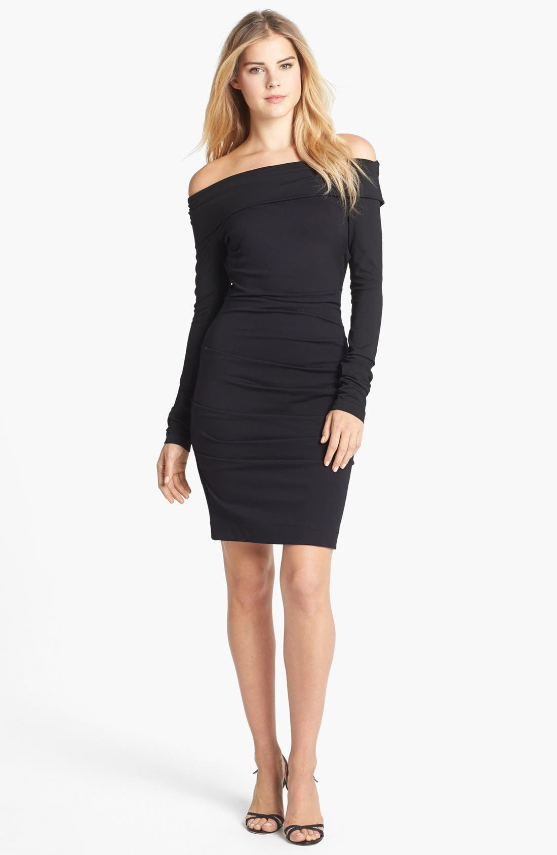 Main Image - Nicole Miller Off Shoulder Ponte Knit Sheath Dress
