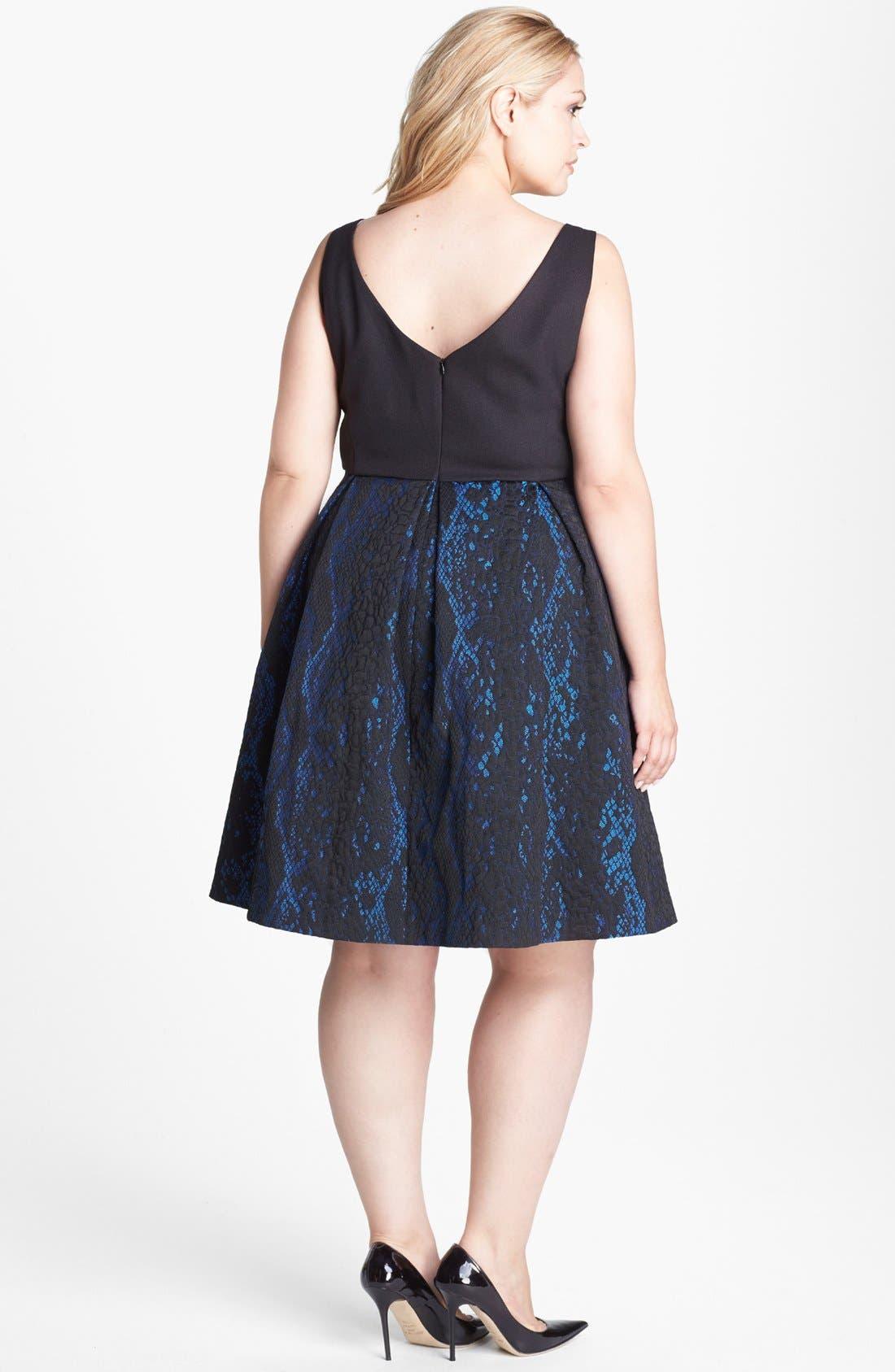 Alternate Image 2  - ABS by Allen Schwartz Python Jacquard Cocktail Dress (Plus Size)
