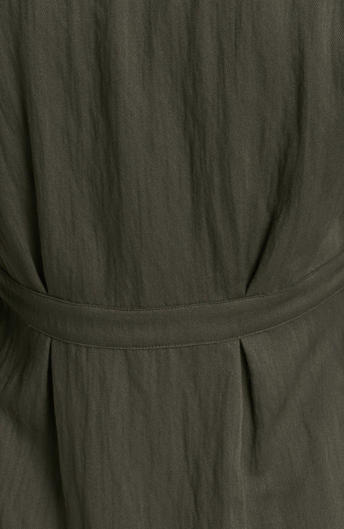 Alternate Image 3  - Burberry Brit Roll Sleeve Crinkled Twill Shirt Jacket