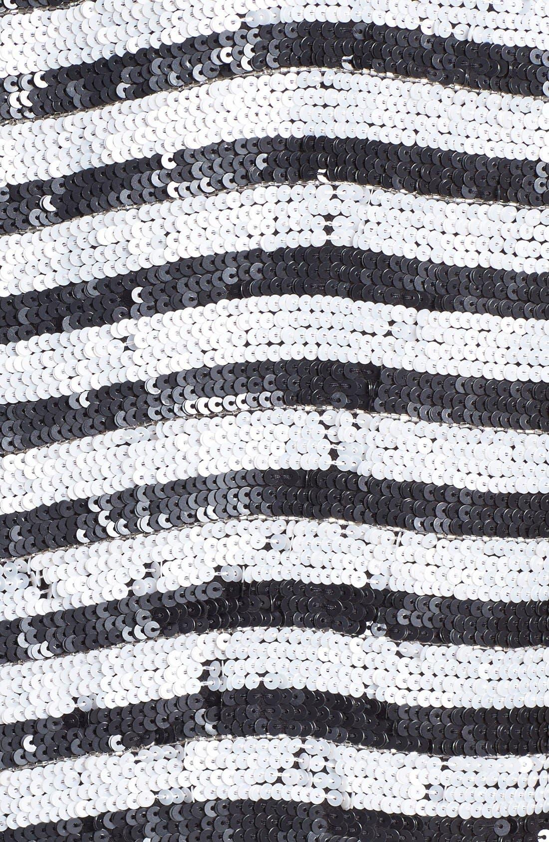 Alternate Image 4  - Rachel Zoe Stripe Sequin Top