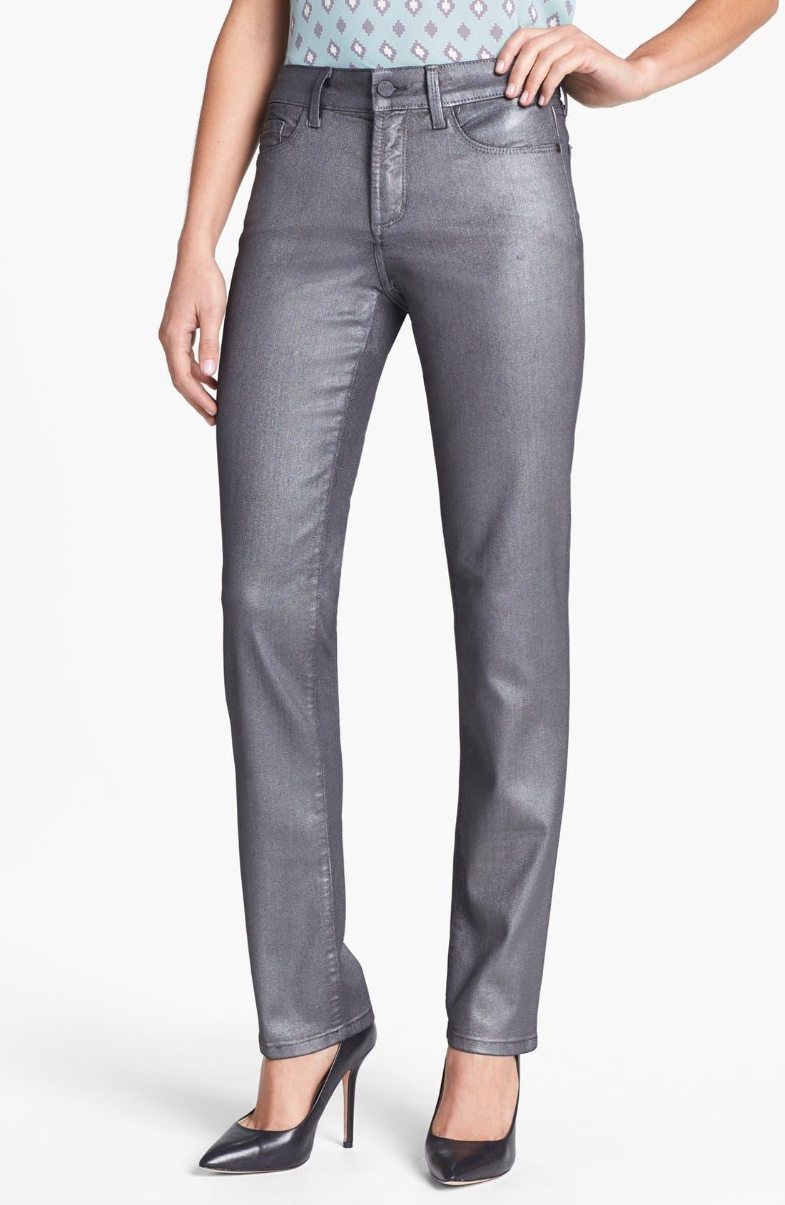 Main Image - NYDJ 'Sheri' Foiled Stretch Skinny Jeans