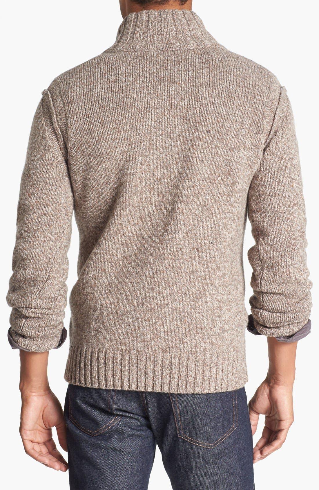 Alternate Image 2  - BOSS Orange 'Ajeno' Quarter Zip Tweed Yarn Sweater