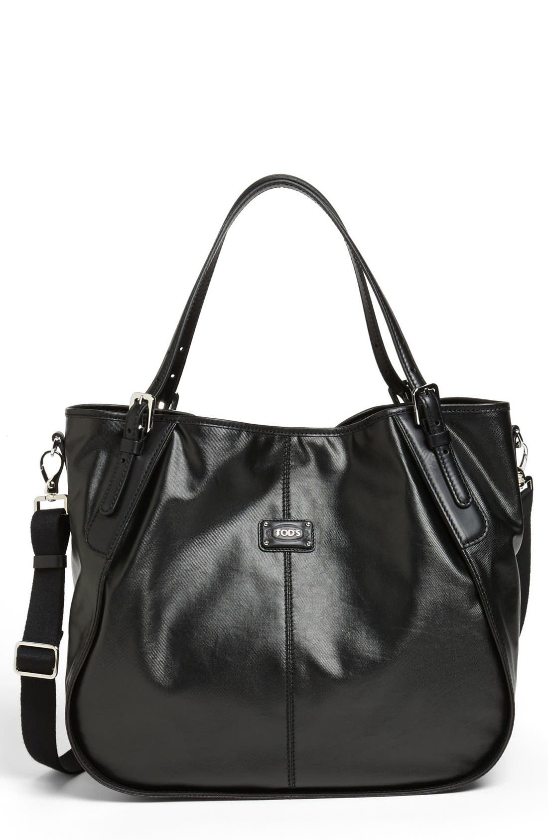 Main Image - Tod's 'New G-Line - Sacca Media' Leather Shopper