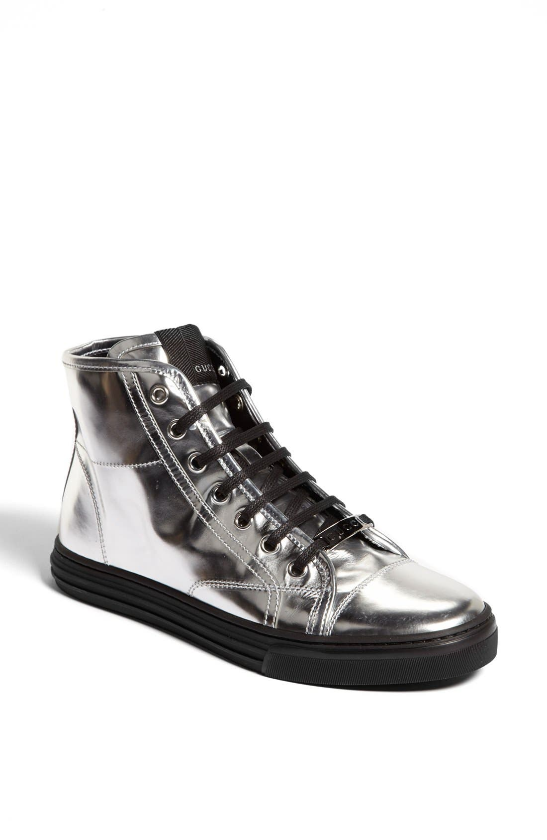 Alternate Image 1 Selected - Gucci 'California' Metallic High Top Sneaker