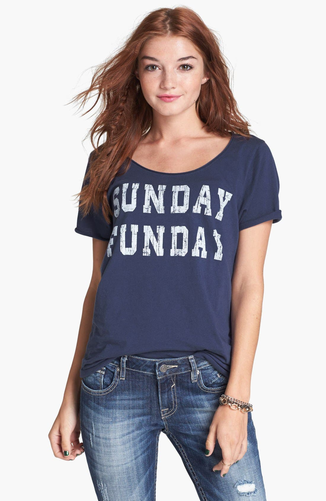Alternate Image 1 Selected - Project Social T 'Sunday Funday' Tee (Juniors)