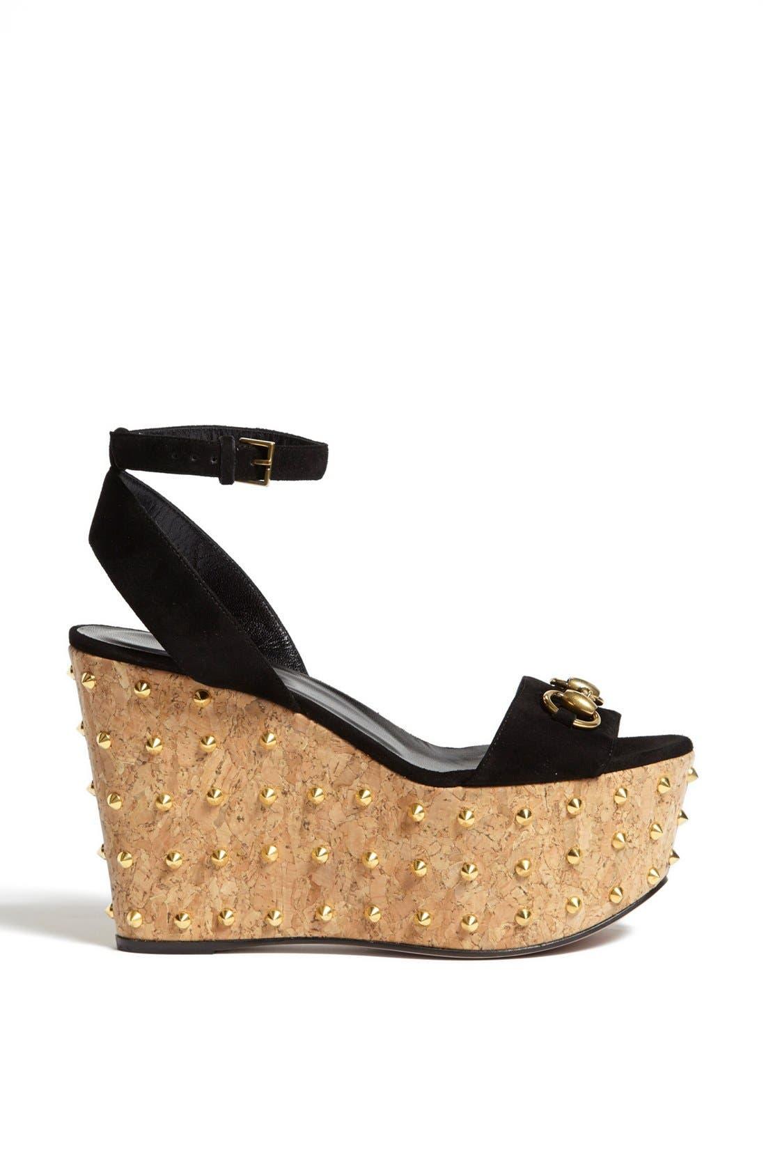 Alternate Image 4  - Gucci 'Liliane' Studded Platform Sandal