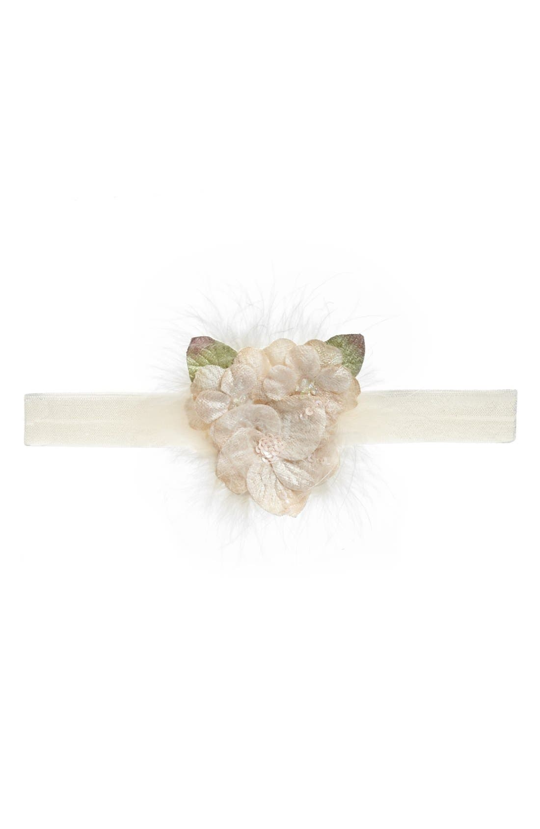 Main Image - PLH Bows & Laces Flowers Headband (Baby Girls)