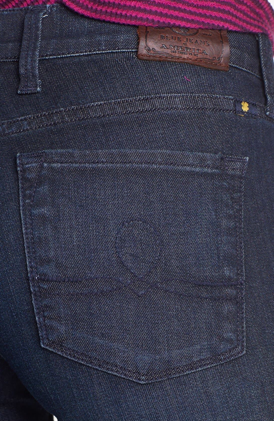 Alternate Image 4  - Lucky Brand 'Sofia' Tuxedo Piped Skinny Jeans (Cullowhee)