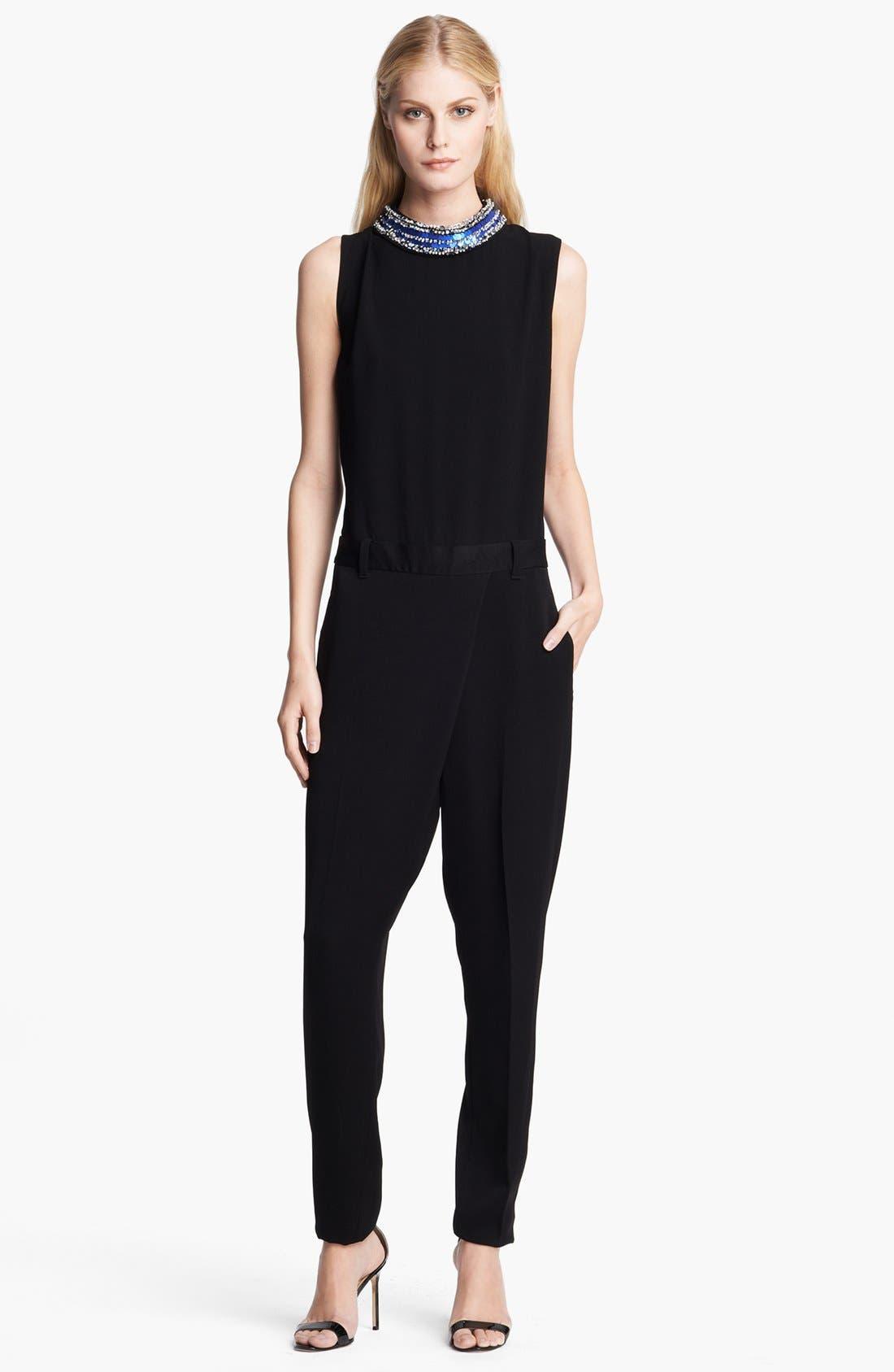 Alternate Image 1 Selected - 3.1 Phillip Lim Embellished Neck Jumpsuit