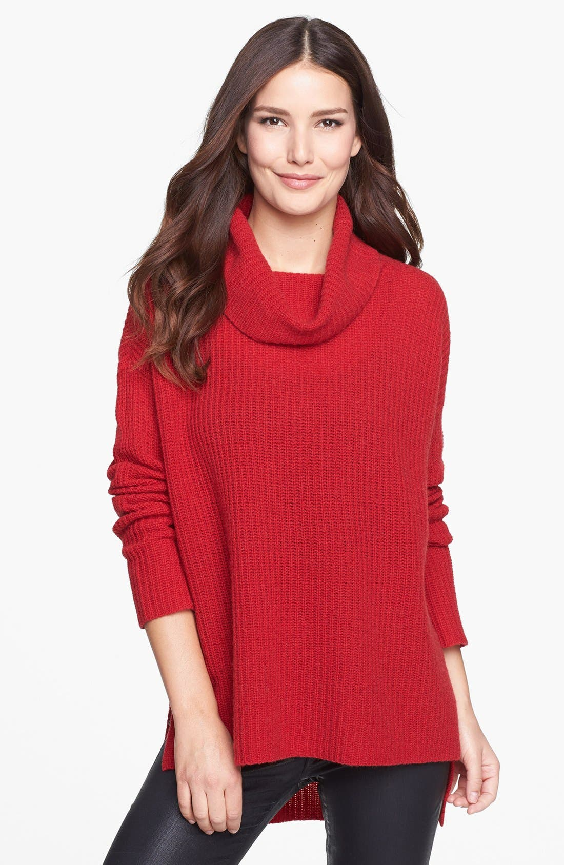 Alternate Image 1 Selected - Eileen Fisher Merino & Yak Wool Turtleneck Sweater