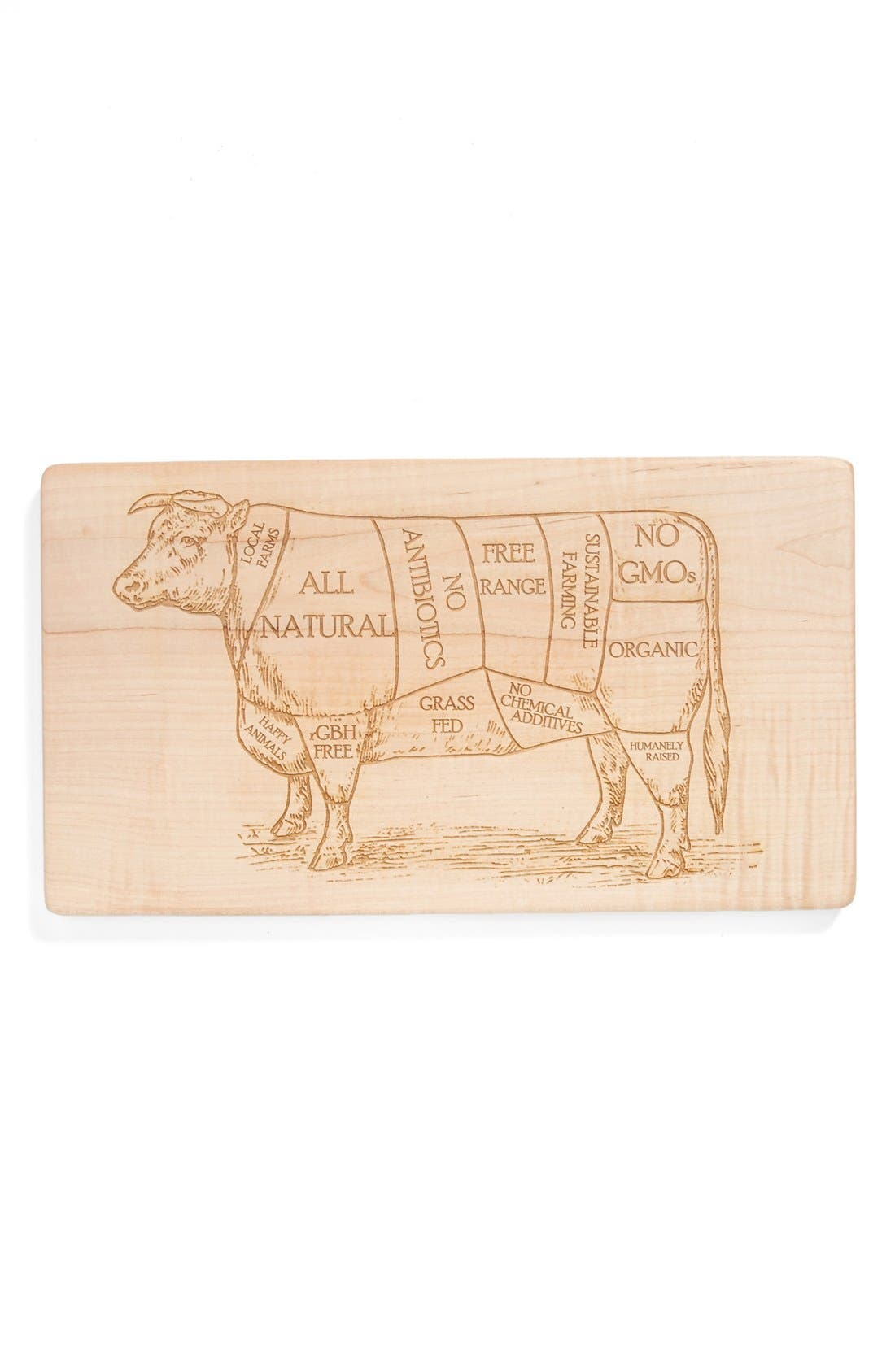 Alternate Image 1 Selected - Milk and Honey Luxuries Vintage Butcher's Diagram Cutting Board