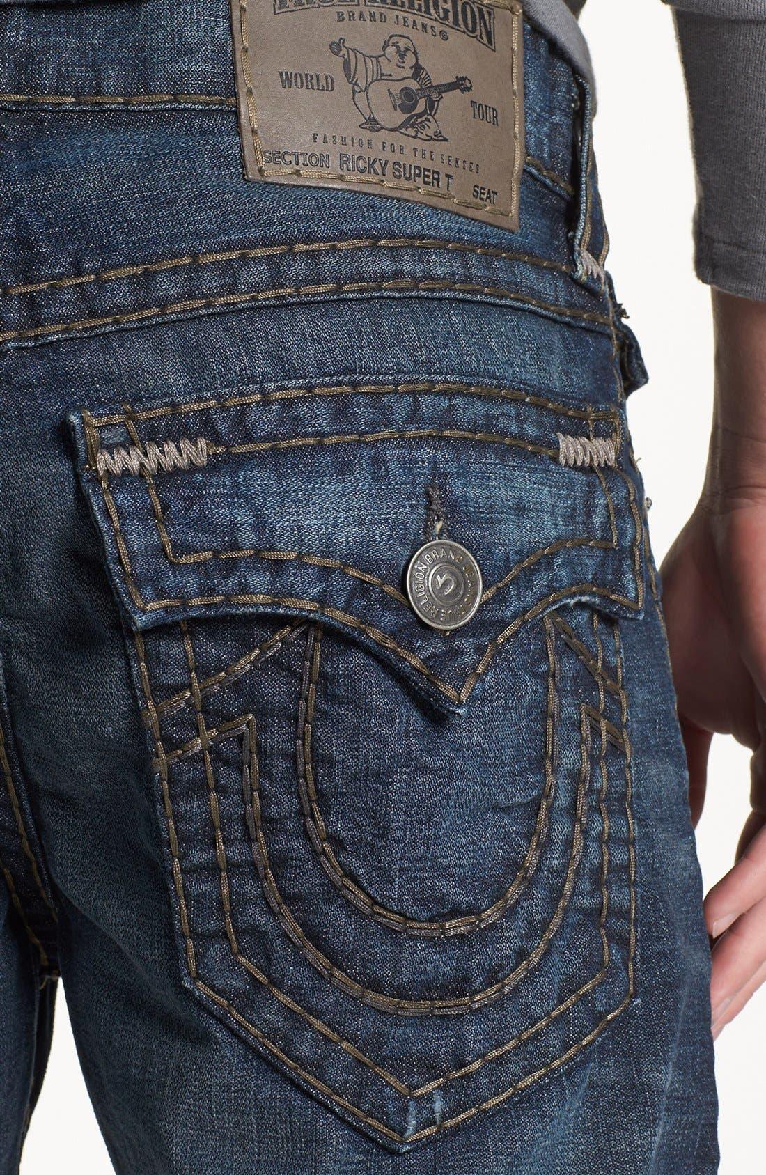 Alternate Image 4  - True Religion Brand Jeans 'Ricky - Super T' Straight Leg Jeans (Asjd Breaking Grounds)