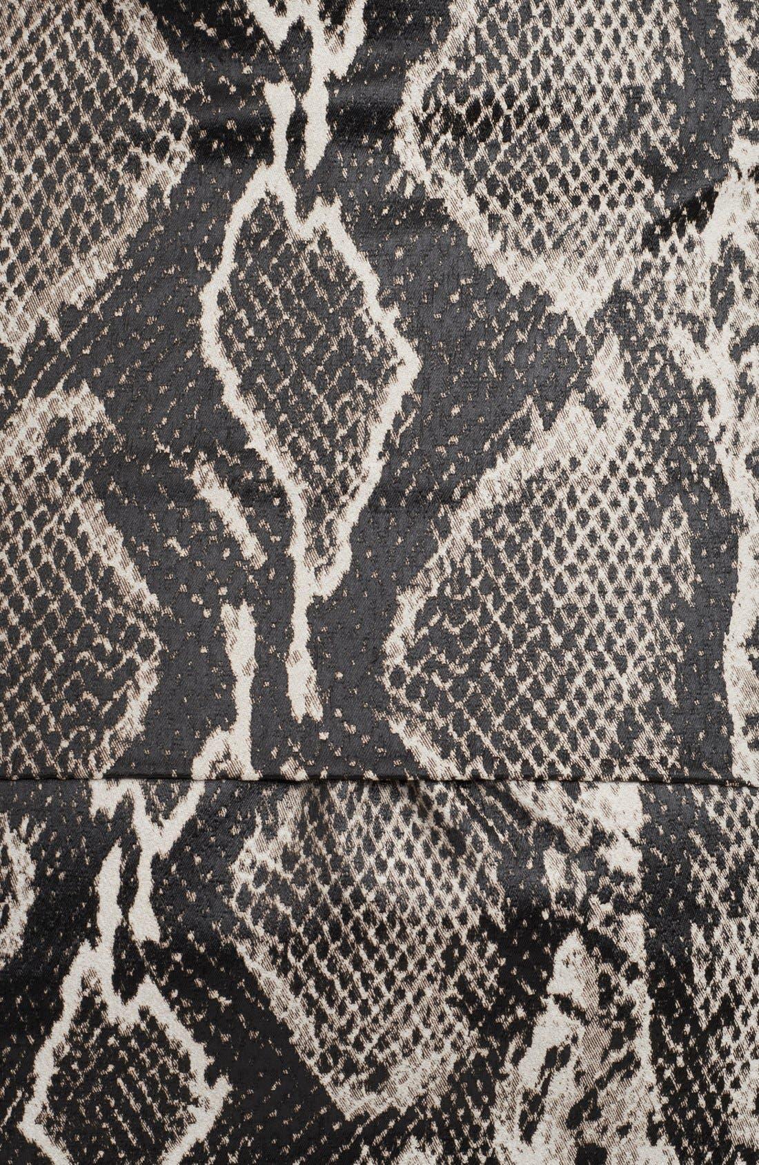 Alternate Image 3  - Donna Karan Collection Snake Jacquard Midi Skirt