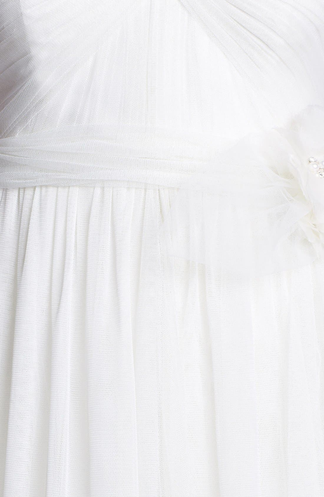 Alternate Image 3  - Jenny Yoo 'Hathaway' Rosette Detail Convertible Tulle Dress (In Stores Only)