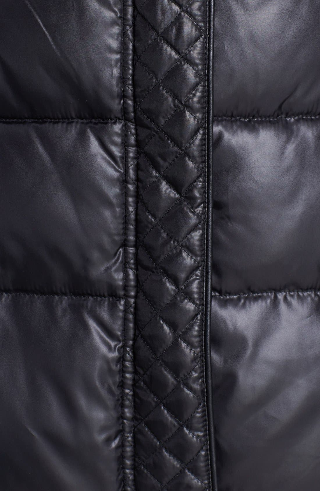 Alternate Image 3  - Circus by Sam Edelman Faux Fur Trim Quilted Coat (Online Only)