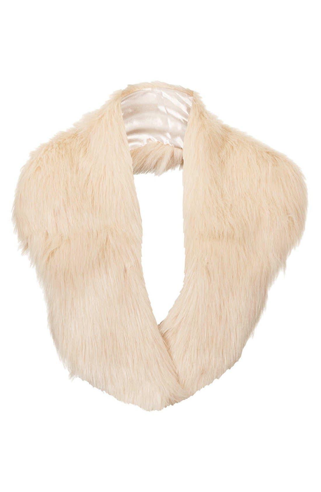 Main Image - Topshop Faux Fur Stole