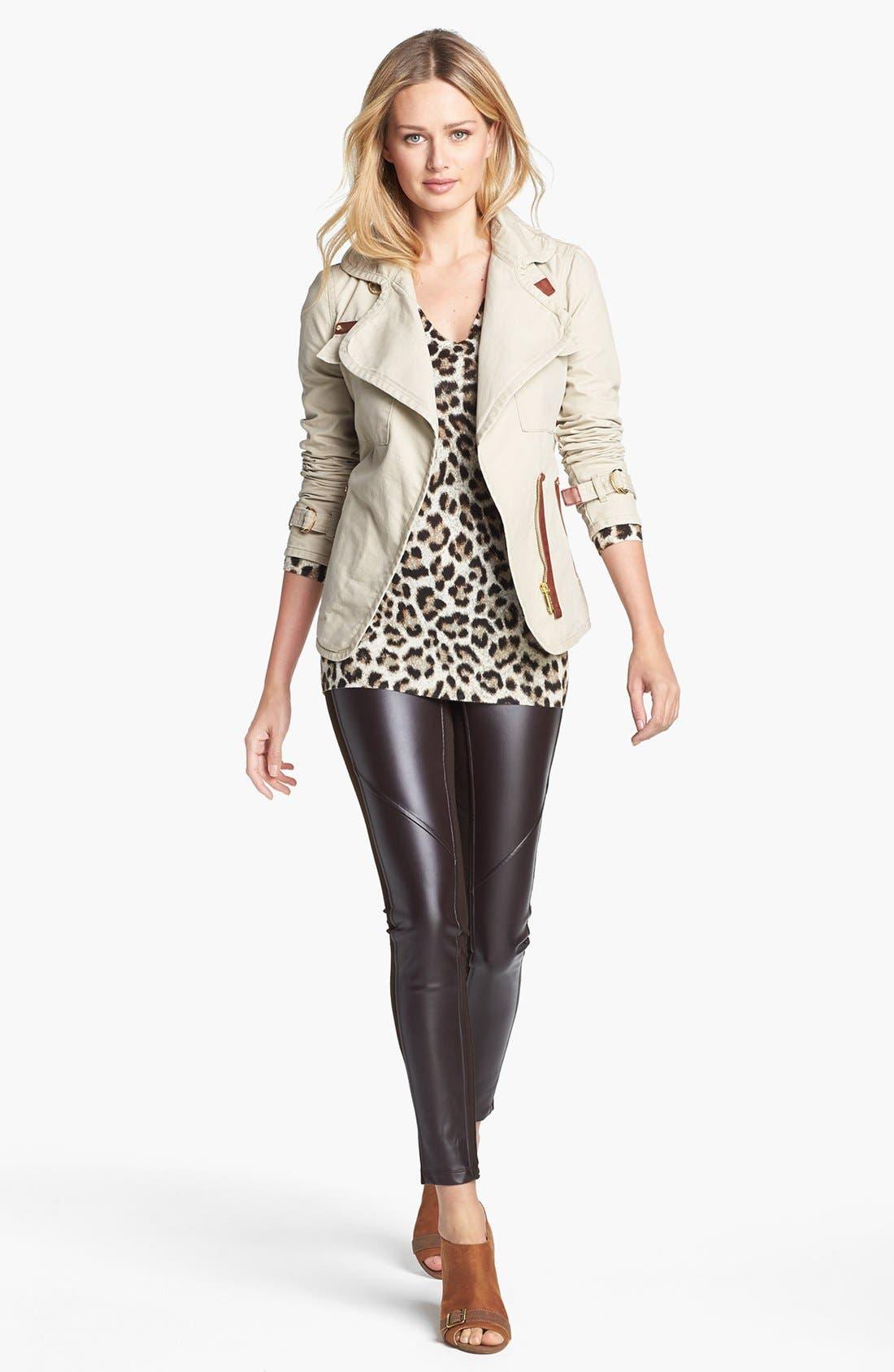 Alternate Image 4  - MICHAEL Michael Kors Faux Leather Front Leggings