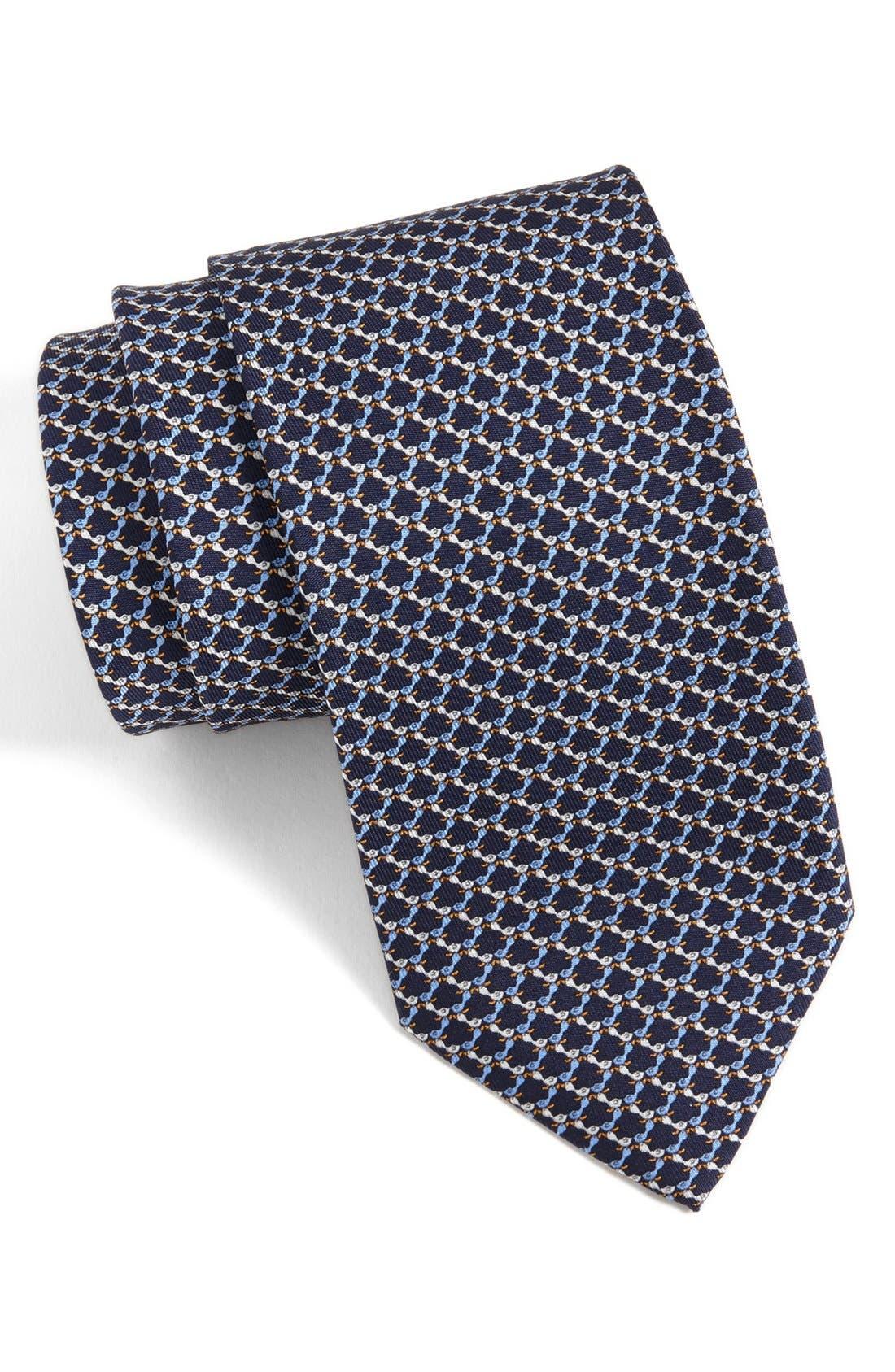 Alternate Image 1 Selected - Salvatore Ferragamo Bird Motif Silk Tie