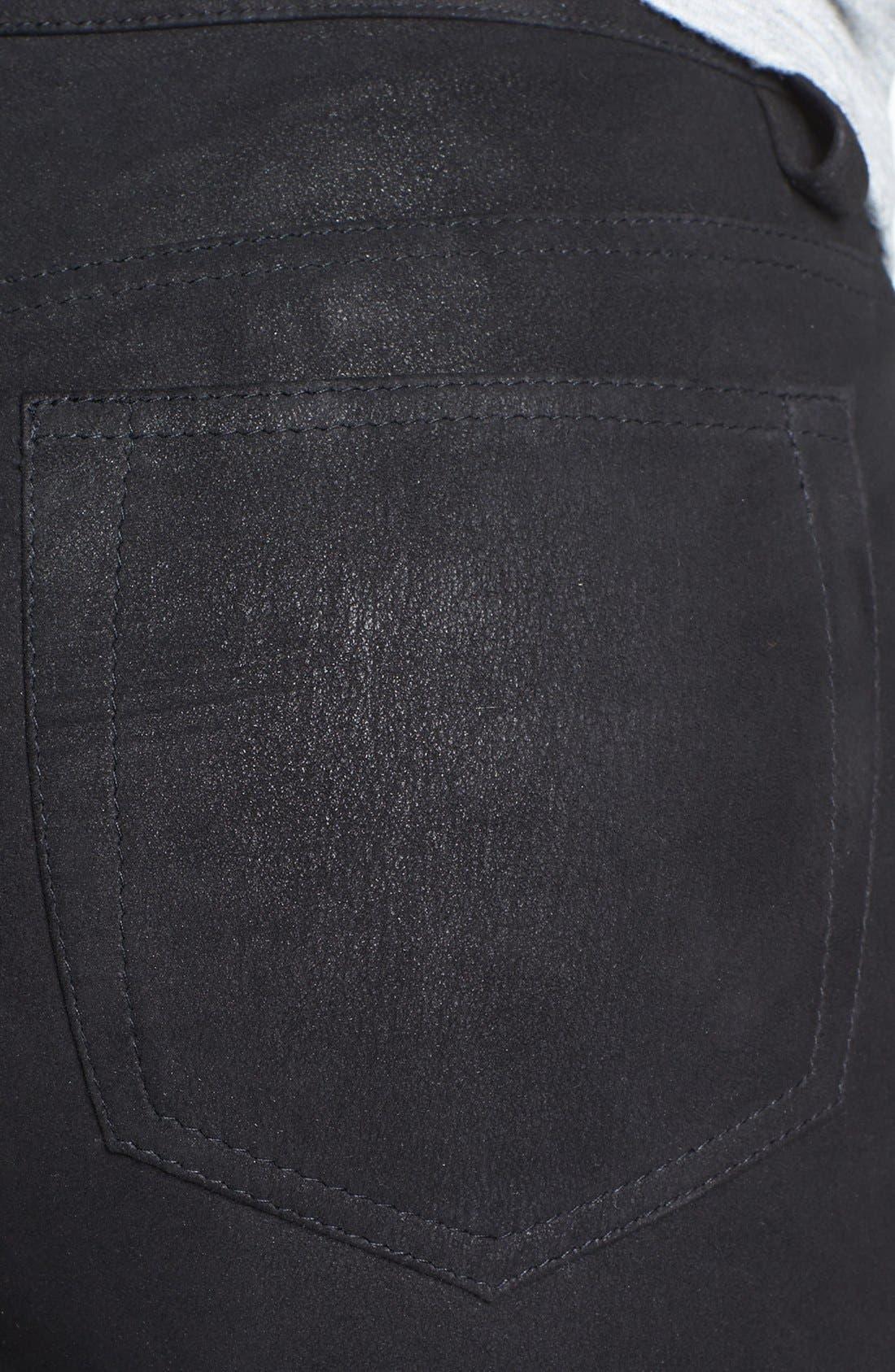 Alternate Image 3  - Joe's Tuxedo Skinny Suede Ankle Pants