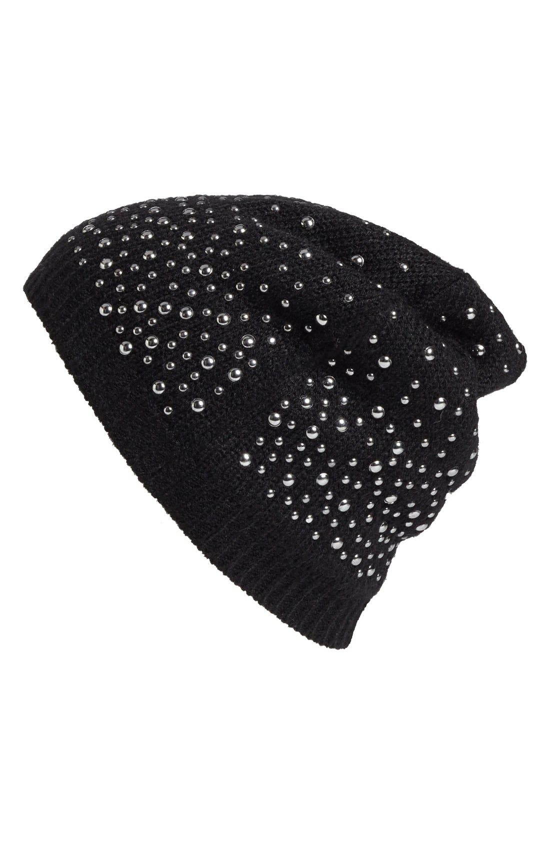 Alternate Image 1 Selected - Tarnish Studded Beanie
