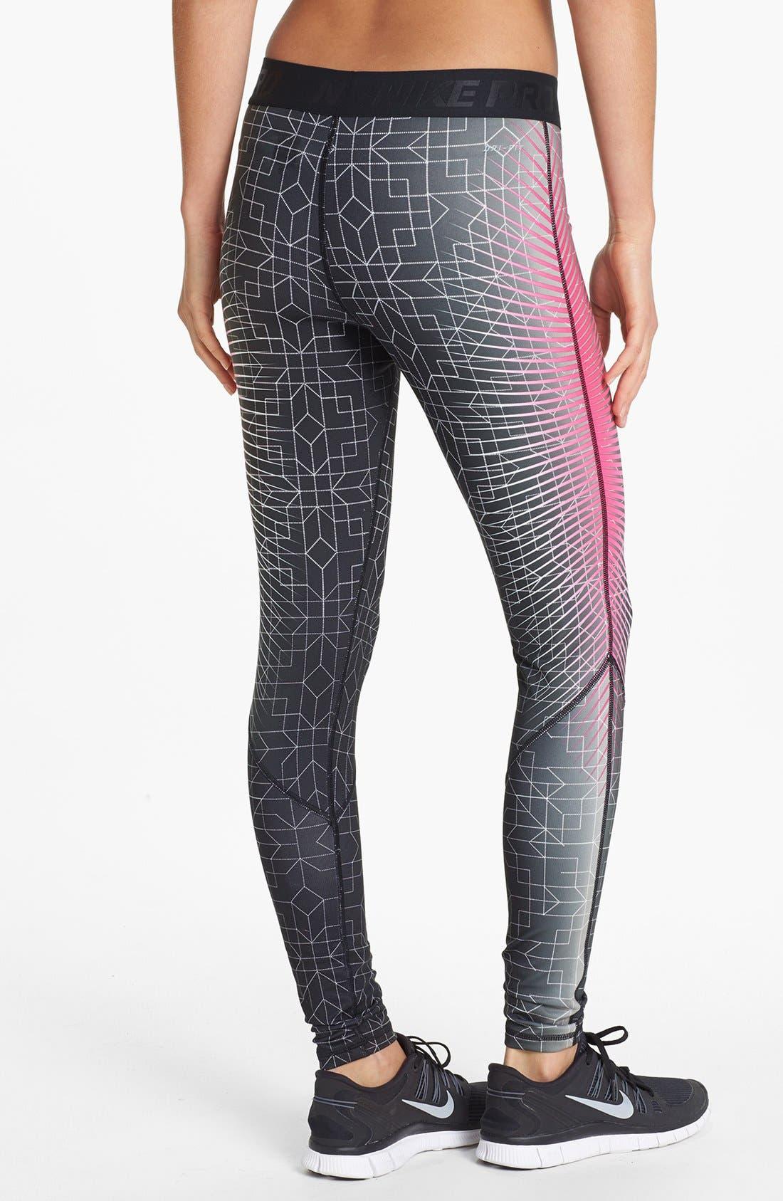 Alternate Image 2  - Nike 'Pro Hyperwarm' Print Tights