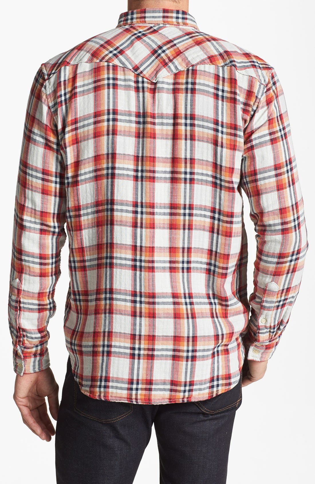 Alternate Image 2  - Lucky Brand 'Owls Head' Plaid Western Shirt