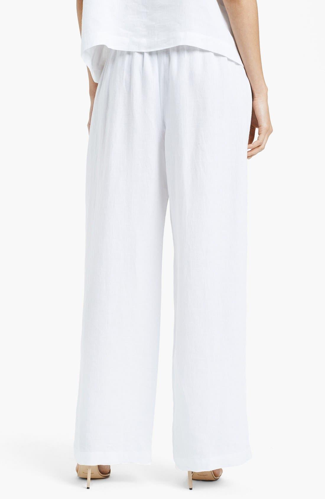 Alternate Image 2  - eskandar Lightweight Linen Drawstring Trousers