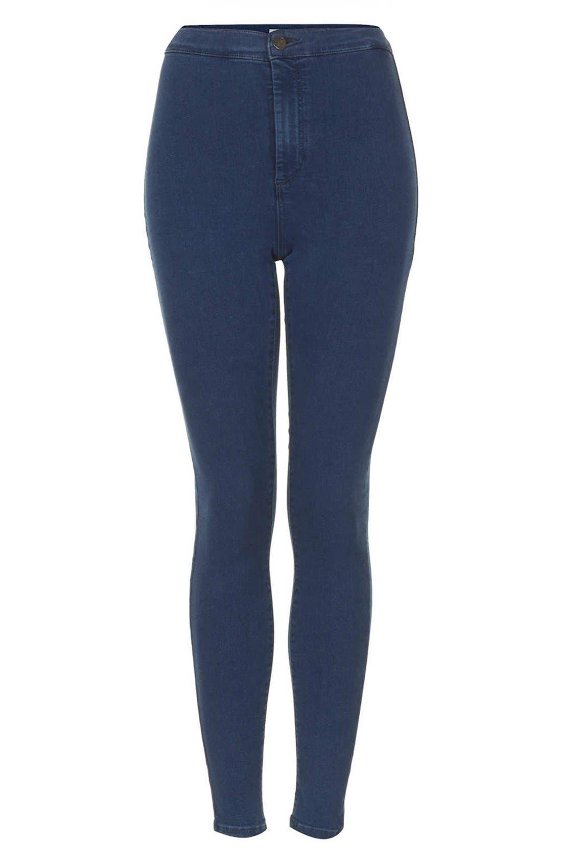 Alternate Image 3  - Topshop Moto 'Joni' High Rise Skinny Jeans (Dark Stone) (Regular, Short & Long)