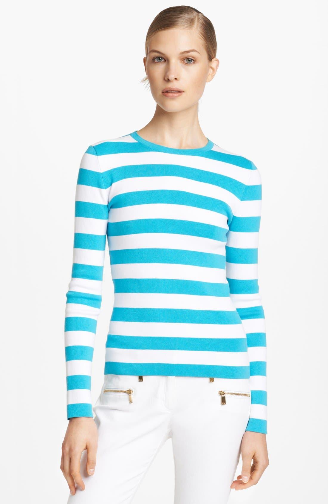 Alternate Image 1 Selected - Michael Kors Stripe Cotton Sweater