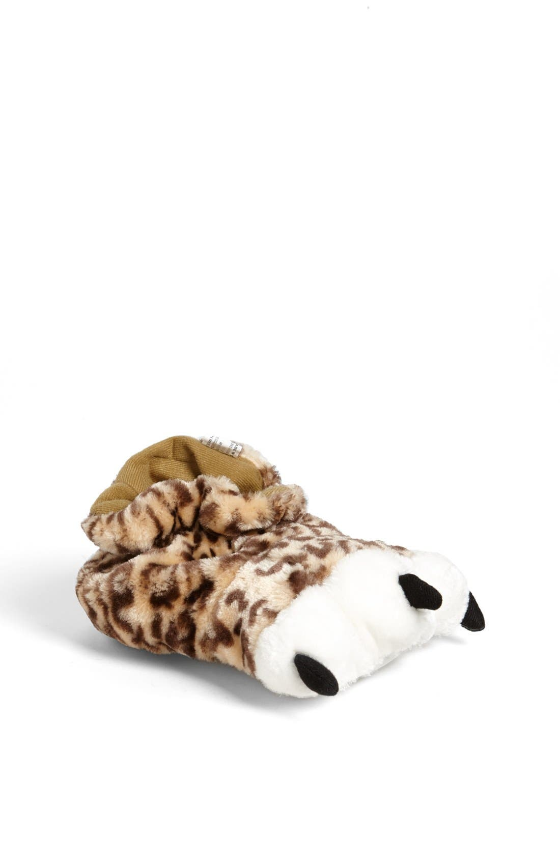 Alternate Image 1 Selected - Stride Rite Leopard Paw Slippers (Toddler & Little Kid)