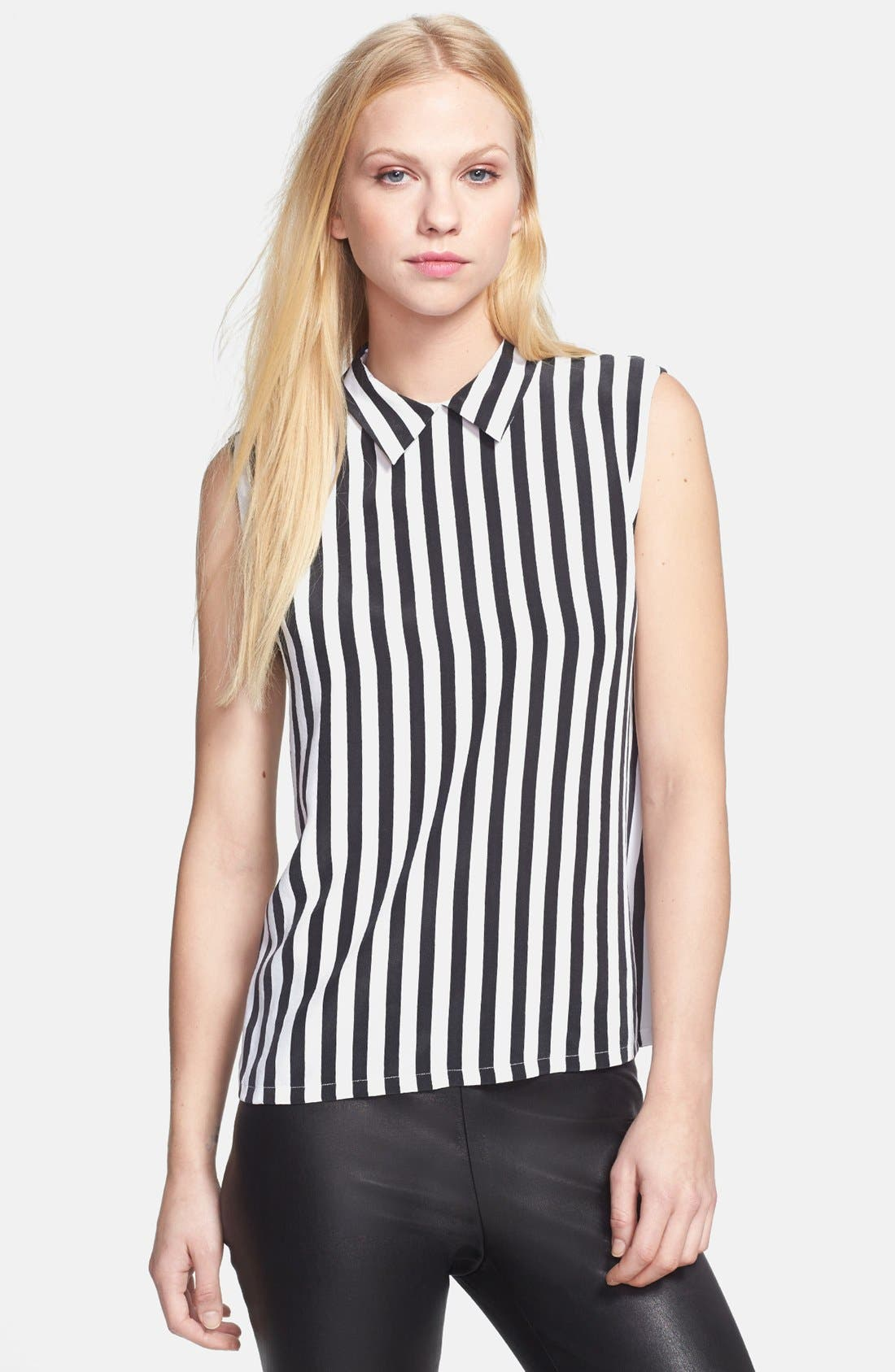 Alternate Image 1 Selected - Equipment 'Elliot' Stripe Silk Top