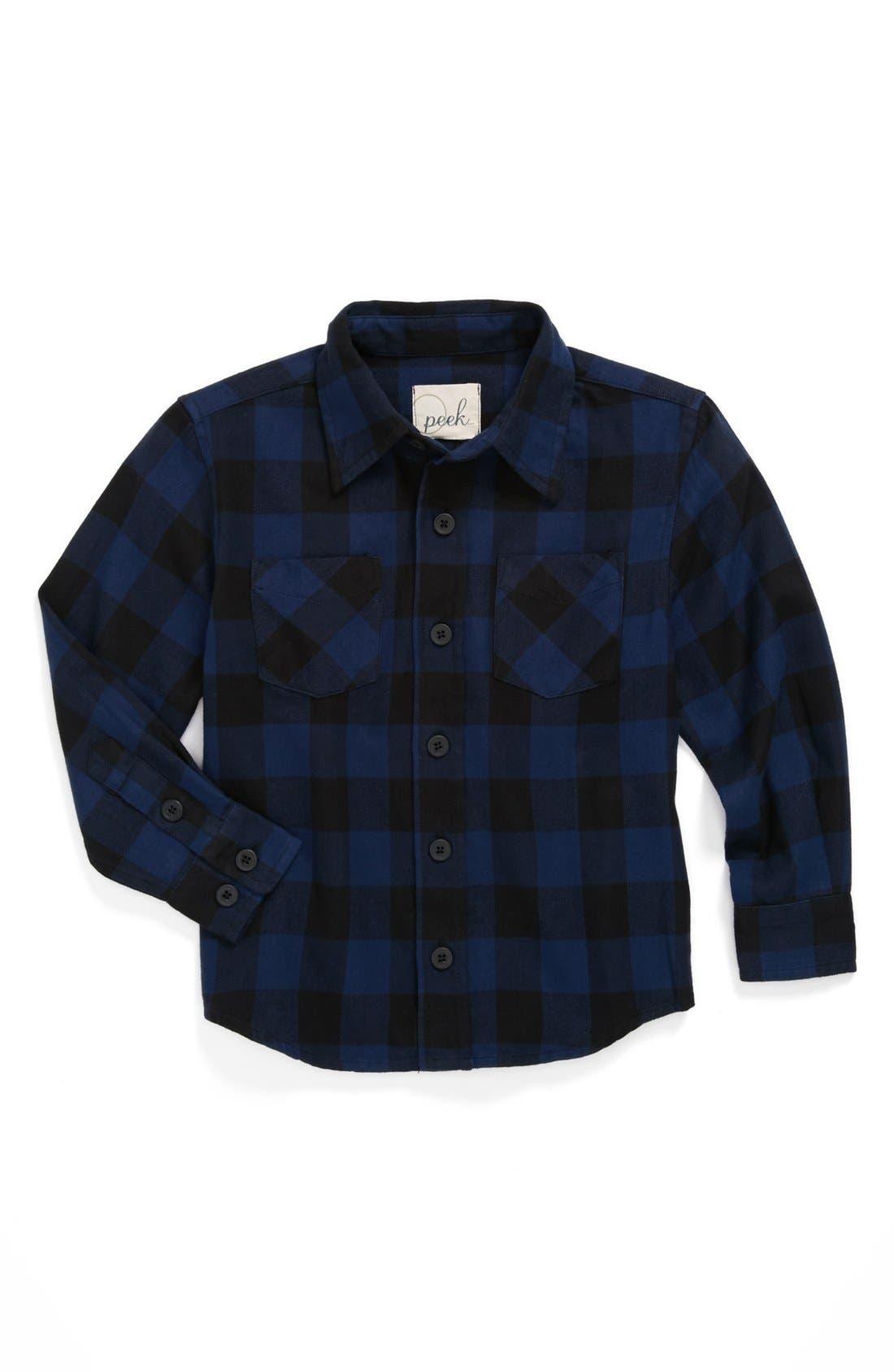 Alternate Image 1 Selected - Peek Plaid Shirt & Jeans (Baby Boys)