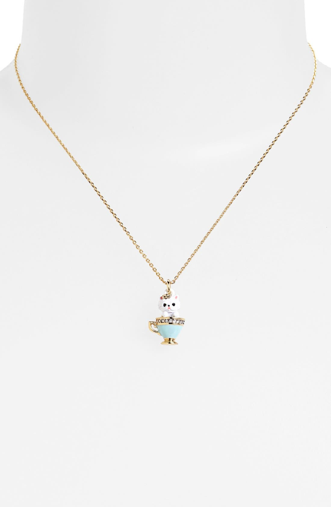 Main Image - Juicy Couture Boxed Tea Cup Charm Pendant Necklace
