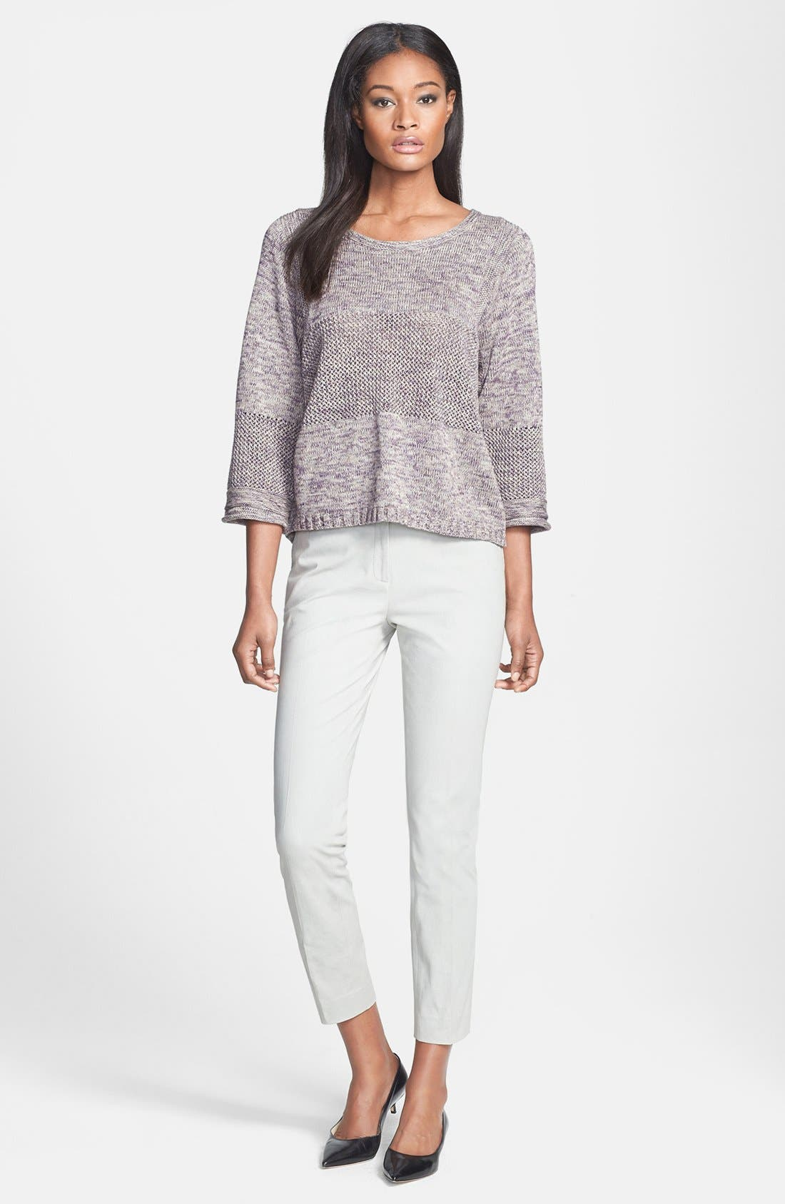 Alternate Image 4  - Lafayette 148 New York Multi Stitch Sweater