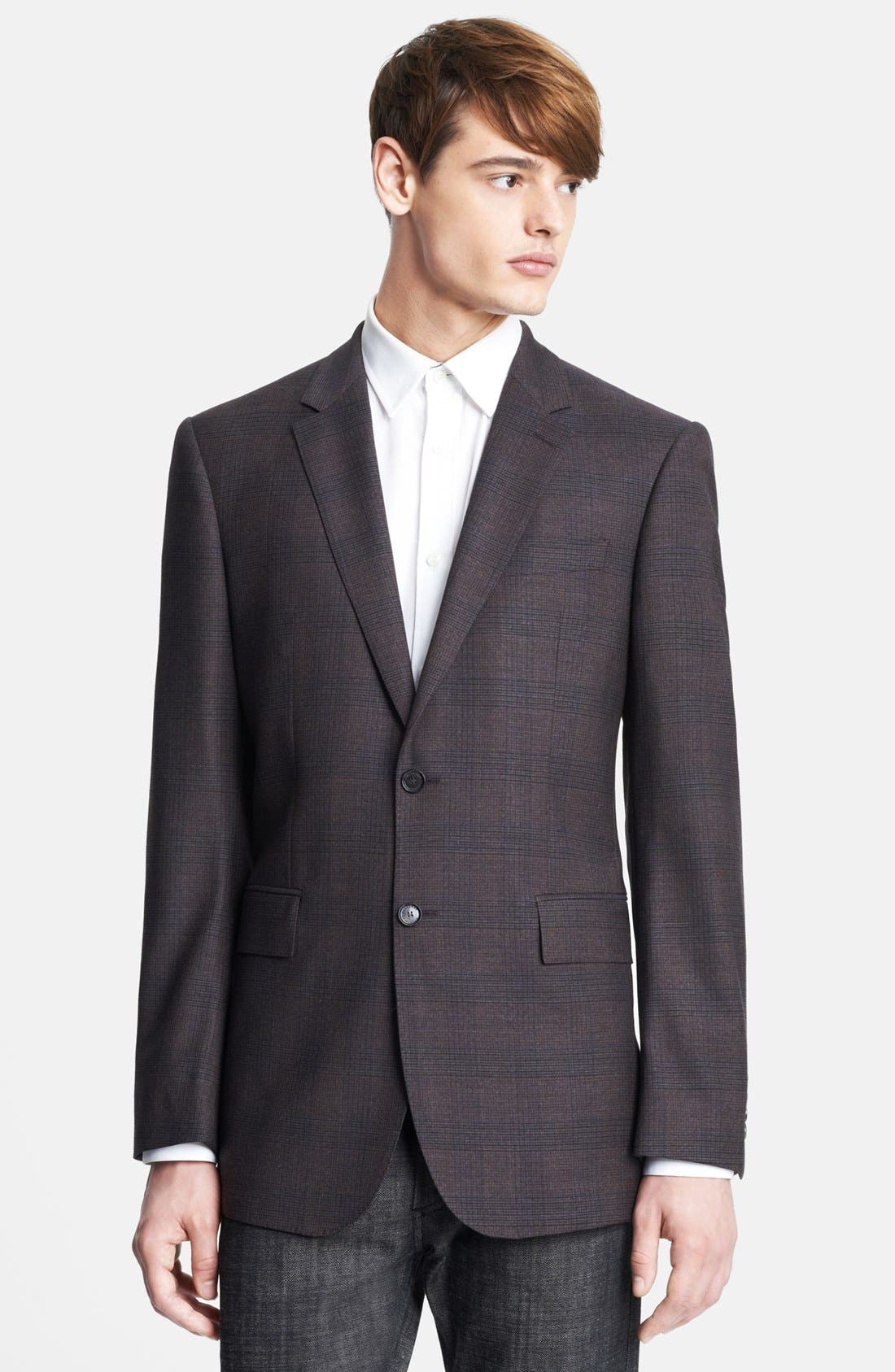 Main Image - Burberry London Plaid Wool Sportcoat